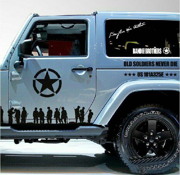 Graphic vinyl band of brothers car sticker u s army decal for jeep wrangler