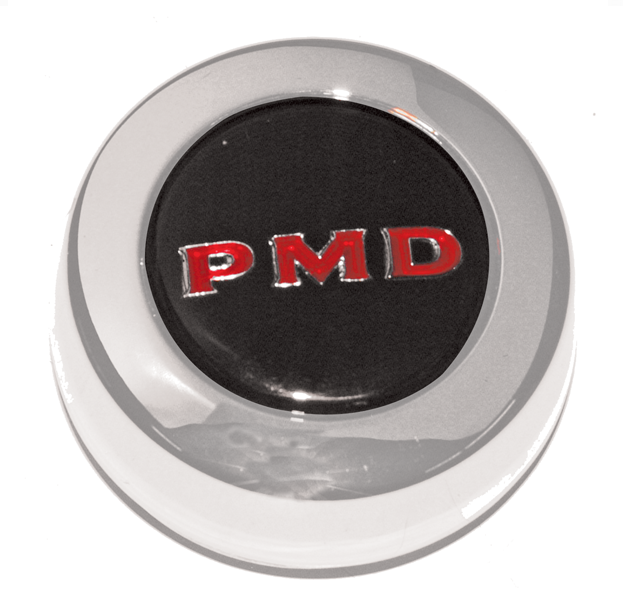 1967-79 Pontiac PMD Rally II Center Cap - Black with Red PMD PD101