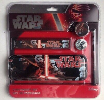 STAR WARS LARGE STATIONERY SET Force Awakens 5cps school art pencil case ](5 Star Pencil Case)