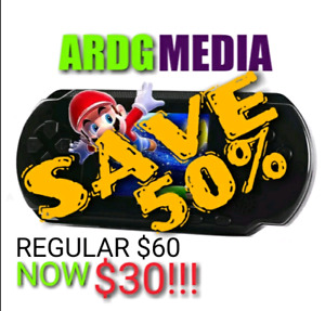NEW ARRIVAL! RETRO HANDHELD INCLUDES OVER 150 GAMES 50% OFF!!!!