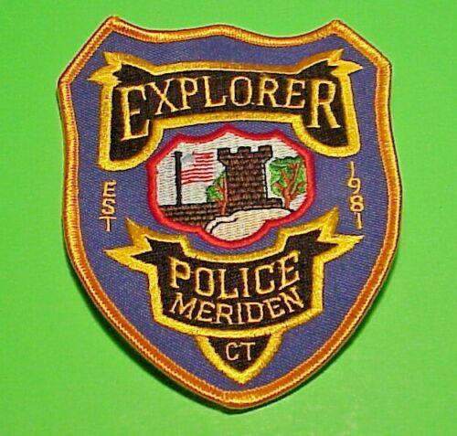"MERIDEN  CONNECTICUT  CT  EST. 1981  EXPLORER  4 7/8"" POLICE PATCH FREE SHIPPING"