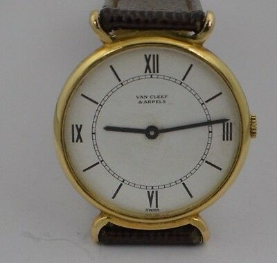 W374   VAN CLEEF &ARPELS MENS  HAND-WIND 14K SOLID  GOLD  VINTAGE  WRISTWATCH