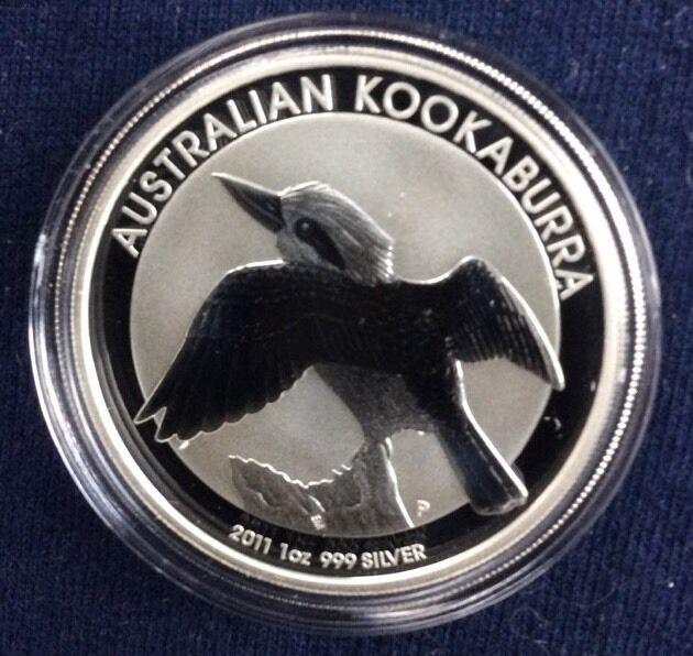 2011 Australia  Kookaburra 1 Ounce Silver $1 Coin