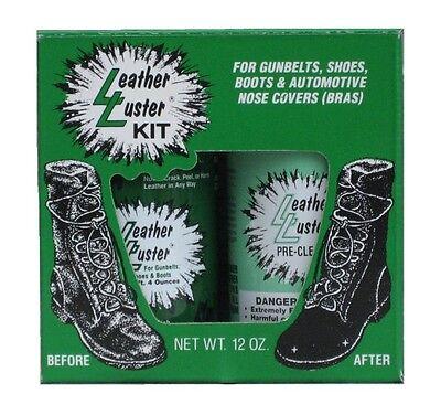 Leather Luster Kit Hi Gloss Patent Leather Finish Black