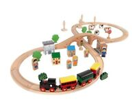 50 Piece Wooden Train Set - RRP £29.99