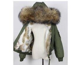 Real fur coat