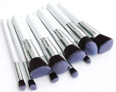 Professional 10  Kabuki Style Foundation Contour Face Powder Make up Brushes Set