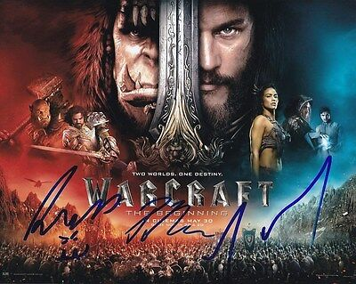 Duncan Jones Travis Fimmel Paula Patton Signed Autographed Warcraft Photo