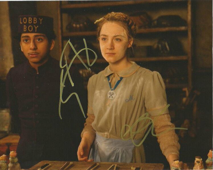 Tony Revolori Saoirse Ronan Grand Budapest Autographed Signed 8x10 Photo COA