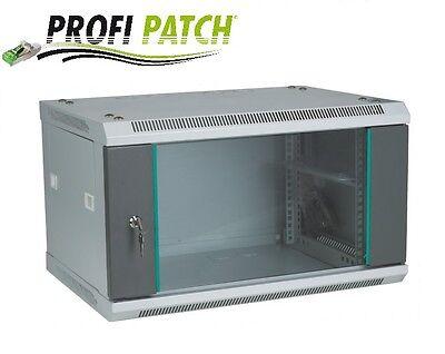 """19"""" Wandgehäuse Netzwerkschrank Serverschrank 6HE BxHxT 600x350x500 grau"""
