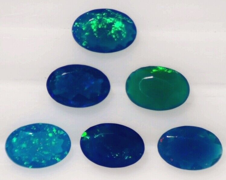 DARK BLUE GREEN OPAL 9.00 x 7.00 MM OVAL CUT ALL NATURAL SOLD PER STONE F-293