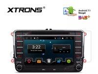 XTRONS ANDROID CAR SAT NAV DVD BLUETOOTH VW SKODA SEAT GOLF MK5 MK6 TOURAN M