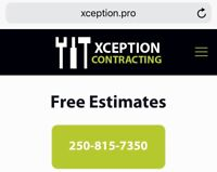 Reputable contracting company for hire