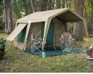 Renting tent space for camping