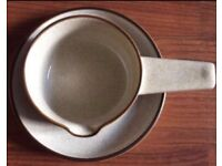 DENBY GRAVY BOAT SOUP BOWL AND DISPLAY PLATE Brown Cream