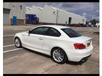 2011 BMW 1 SERIES 2.0 120d M SPORT COUPE, 2d, 177 BHP, FULL RED LEATHER INTERIOR
