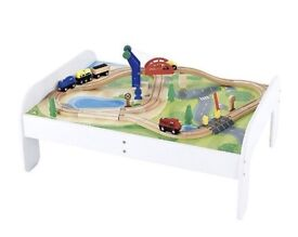 ELC early learning centre Train Table Play Table Wooden Track Trains Car . Immaculate £42