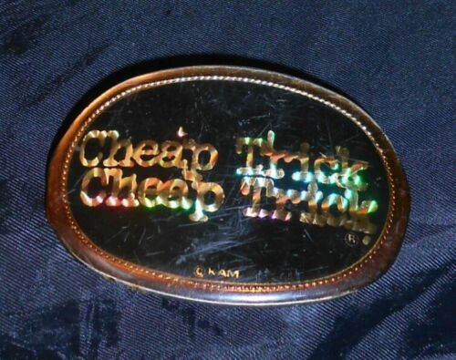 """CHEAP TRICK ORIGINAL 3 1/2"""" BELT BUCKLE, PACIFICA, FROM SD SPORTS ARENA, 1978!"""