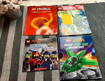 Lego Ninjago/Lego DC Comics lot of 4 Children's Books* Build your own adventure