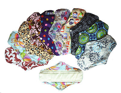 Medium Reusable Washable Bamboo Cloth Menstrual Sanitary Maternity Mama Pad 10in