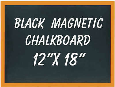Magnetic Black Chalkboard Wood Frame 12 X 18