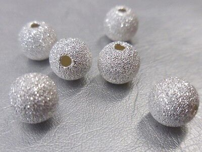 100 Silver Round Stardust 4mm Spacer Beads For Jewellery Making BUY 3 FOR 2