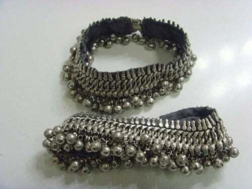 2 rare extra heavy plus size fertility anklets gypsy bells tribal jewelry 50803