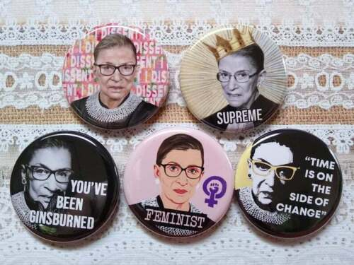 "Ruth Bader Ginsburg button set, Lot of 5-1.25""  Truth, Ginsburg Quotes, RBG"