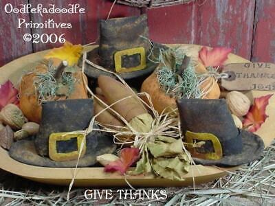 Paper Pilgrim Hat (Thanksgiving Primitive Pilgrims Hat Corn Pumpkin Bowl Filler Fall )