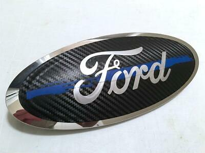 Ford Oval Emblem Overlay Blue Thin Line Police Custom Vinyl Decal Sticker Ford Oval Decal