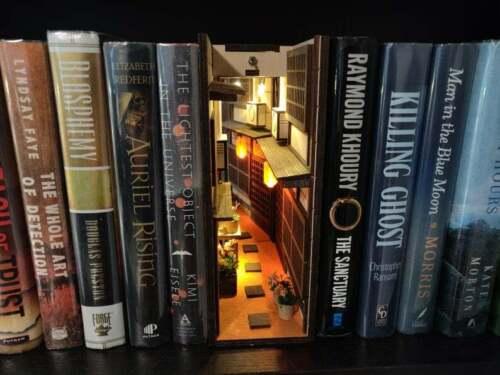 Japan Old Town miniAlley Booknook Bookshelf Insert Bookshelf Alley Book nook