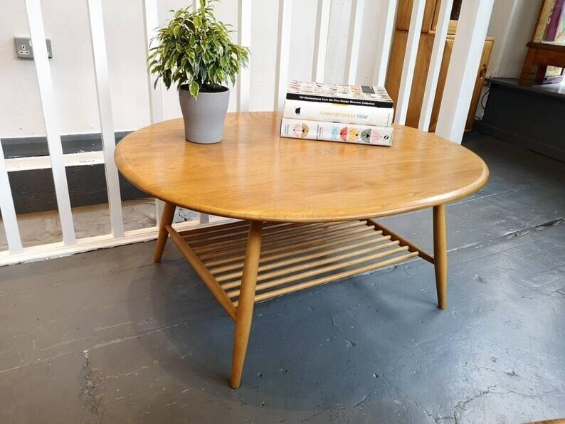 1960s Ercol Round Coffee Table With Magazine Rack In Elm Beech Vintageretromid Century In Brighton East Sussex Gumtree