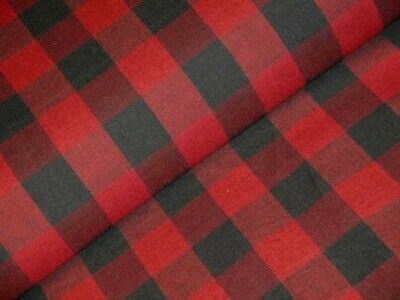 Dunroven House Homespun Fabric H690 Red Black Plaid Quilt Shop Quality -
