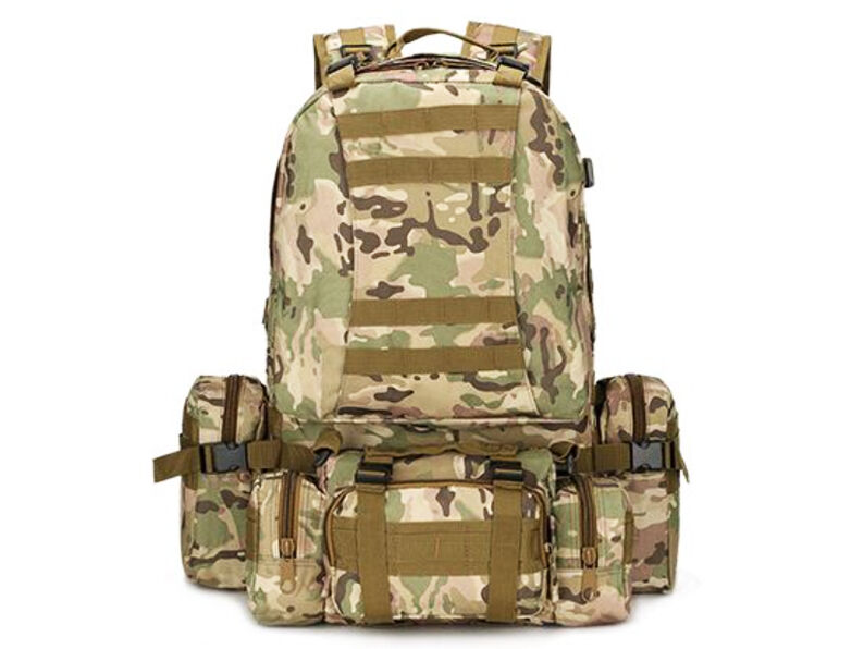 8L/10L/30L/55L/80L Outdoor Military Tactical Camping Hiking Trekking Backpack  55L Scorpion w2 OCP