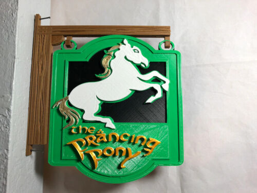 3D Lord of the Rings Inspired Prancing Pony Pub Tavern Homemade Sign Post Bree