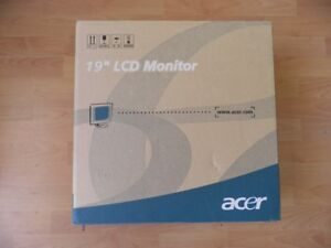 """New in box Acer 19"""" LCD monitor"""