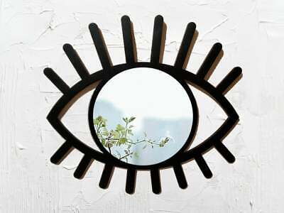 All seeing eye mirror for wall, Black accent evil eye wall mirror