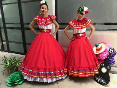 Mexican two piece womans Jalisco dress Cinco de - Cinco De Mayo Kleider