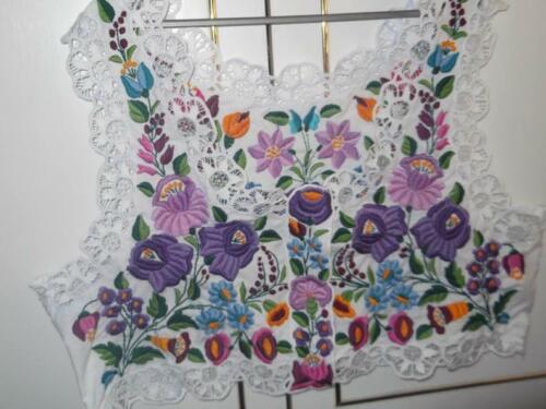 Rare Vintage Hungarian Kalocsa Floral Vest  Traditional Folk Art New