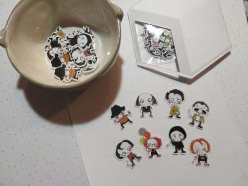 Sugar Blocks Sticker Flakes - Horror Cuties - Freddy Jason Pennywise Leatherface