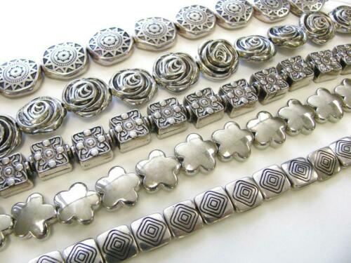 Silver Beads for Jewelry Making Plastic Beads Mix Shape Size Bulk Lot 3 lbs