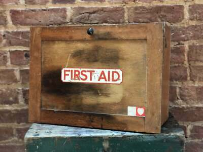 SALE Stunning True Vintage First Aid Box - Prop, Decor, Industrial, Medical