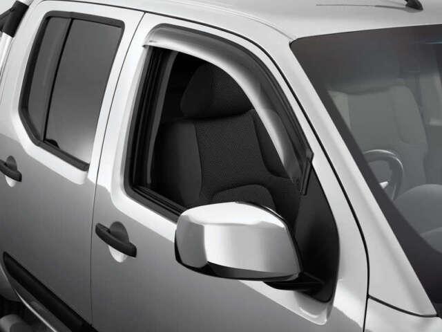 New Genuine Nissan Pathfinder R51 Front Slimline Tinted Weathershields Set of 2