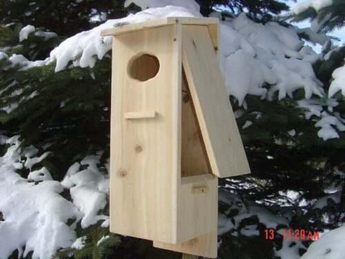 Wood Duck nesting box, Cedar, split door