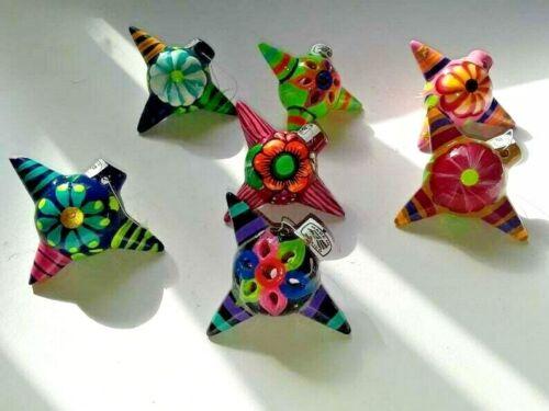 """Set of 4 pinata  Mexican Talavera Christmas Ornaments 4"""" x  4"""""""
