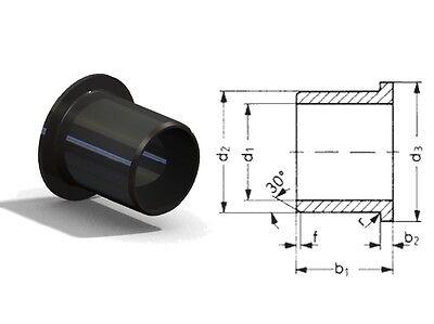 5 Stück Wartungsfreies Gleitlager D 6 mm mit Bund