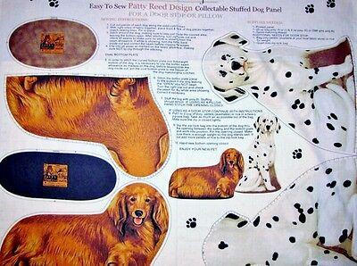 Patty Reed Stuffed Dogs  fabric  Panel