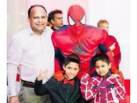 SUPER HERO PARTIES Party MASCOT Childrens Kids HULK IRON SPIDER MAN Meet Greet Entertainer SLOUGH