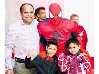 SUPER HERO BATMAN Party MASCOT Childrens Kids HULK IRON SPIDER MAN Meet Greet Entertainer KINGSTON