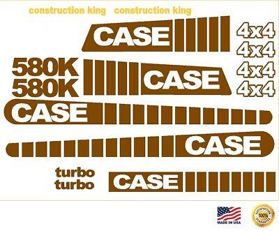 Case 580k Standard Hoe 4x4 Loader Backhoe Decals Sticker Set